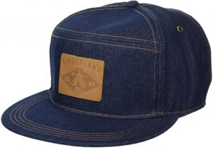 6a1c62b4524807 Timberland Headwear Men's Cotton Denim Baseball Cap, Dark Denim/Leather  Patch Logo, One Size