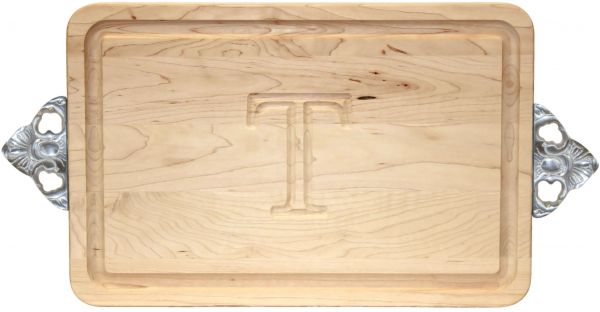 Bigwood Boards 200 Sc T Cutting Board With Handles Monogrammed Cutting Board Small Rectangular Cheese Board Maple Wood Serving Tray T