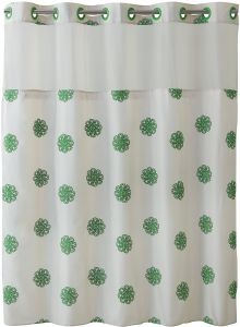 Hookless RBH40MY032 Sunburst Floral Shower Curtain With Peva Liner