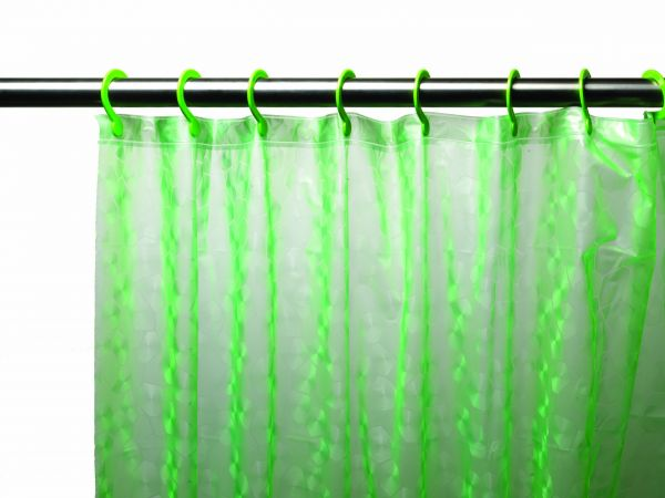 Carnation Home Fashions 3d Prism Look Peva Shower Curtain With Built