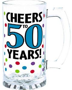 Amscan The Party Continuous 50th Birthday Cheers To 50 Years Tankard Supplies 4 Piece 15 Ounce
