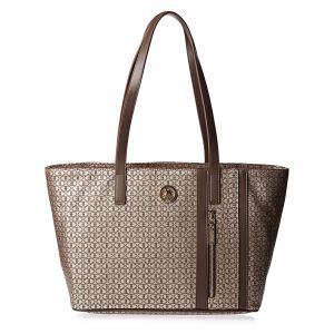 bd423c29d207 U.S. Polo Assn. Leather Tote Bag for Women - Brown