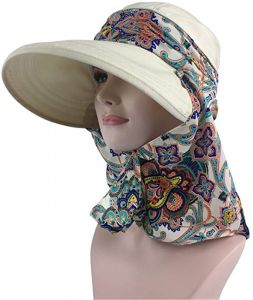 8a21e70986a Women   Men Outdoor Sun Hat UV Protection fishing Hiking Caps With Face  Neck Flap Cover UPF 50+