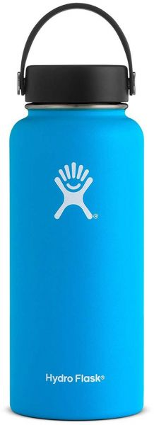 Hydro Flask Sports Water Bottle Stainless Steel Insulated Wide Mouth Lid Drink