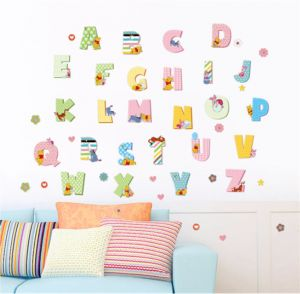 Kids Animal Alphabet Wall Decals Cute Removable Abc Wall Stickers For Toddler Boys And Girls Rooms Large Educational Letters For Bedrooms Playrooms