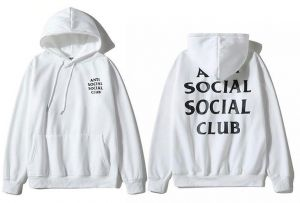 88db61208336 Anti Social Social Classic Hoodie White Assc Ins Hot Unisex Hooded Sweatshirt  For Men And Girl