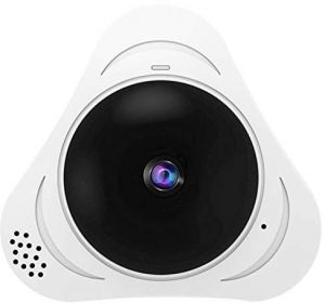 3D VR FIsheye Wireless Wi-fi Smart Camera 360 Degree Panoramic IP Camera  1 3MP or 3 0MP SD Card Slot IR 10M, white