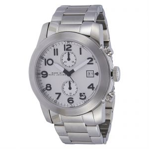 7b1f36787 Marc by Marc Jacobs Men's White Dial Stainless Steel Band Watch - MBM5030
