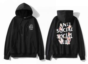 789e5ed0fef9 Anti Social Social Club cherry blossom Hoodie Ins Hot Assc Black Unisex  Hooded Sweatshirt For Men And Women