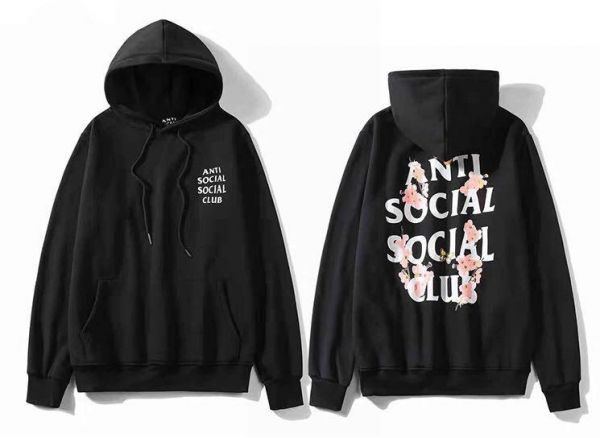 6c46791c34e1 Anti Social Social Club cherry blossom Hoodie Ins Hot Assc Black Unisex  Hooded Sweatshirt For Men And Women