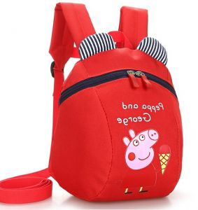 644594bf9e26 Backpack School Bag Waterproof Peppa Pig Face Backpack With Child Safety  Wrist Leash-Backpack Size 21 x 25 x 9cm-Red