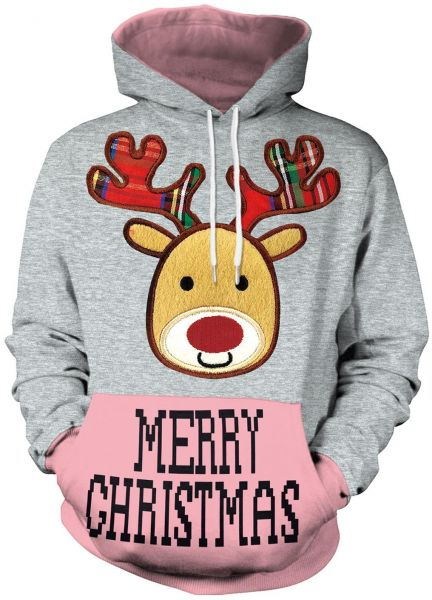 9f81c2065899 Size XXL Unisex Pullover Colorful 3D Hoodie Christmas Sweatshirt for ...