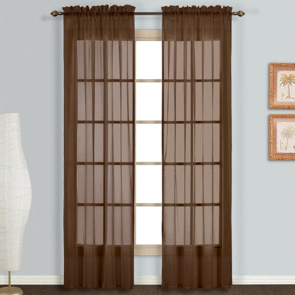 United Curtain Monte Carlo Sheer Window Curtain Panel 59 By 63 Inch