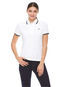 9d870aa6 Fred Perry Twin Tipped Fred Perry Polo T-Shirt for Women - White/Black