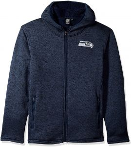 803ab10eca4 Icer Brands NFL Seattle Seahawks Men s Sherpa Full Zip Cozy Fleece Hoodie  Sweatshirt