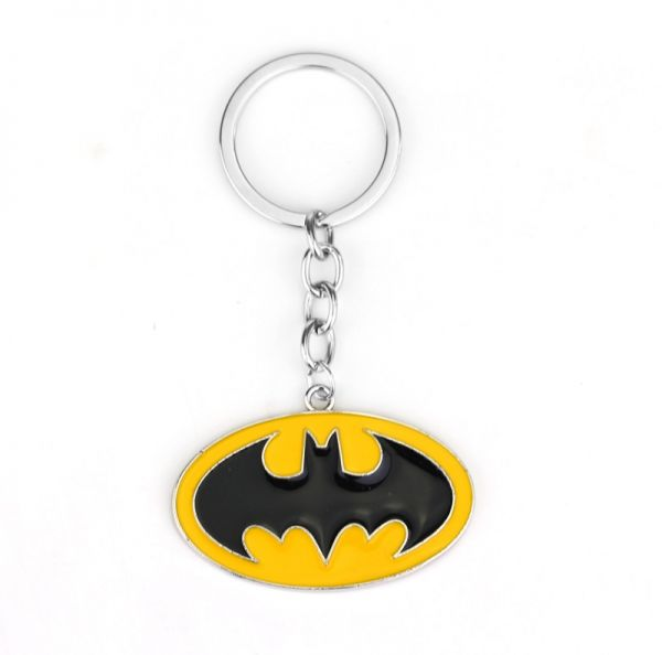 Fashion Men Women Batman Alloy Metal Keyrings Casual Key Ring Chain Keychains Waist Hanging Ideal Birthday Gift