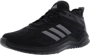 3ba5a98df04f Adidas Men s Speed Trainer 4 Core Black   Night Metallic Carbon Ankle-High  Baseball Shoe - 9M