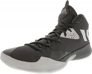 online store 12475 b9020 Adidas Mens Dual Threat 2017 Grey  High-Top Basketball Shoe - 8M