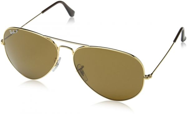 eef6697806 Ray-Ban AVIATOR LARGE METAL - GOLD Frame CRYSTAL BROWN POLARIZED Lenses  62mm Polarized