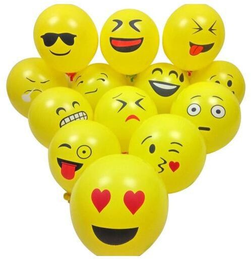 Emoji Face Balloon Pack Wedding Decoration Happy Birthday Party
