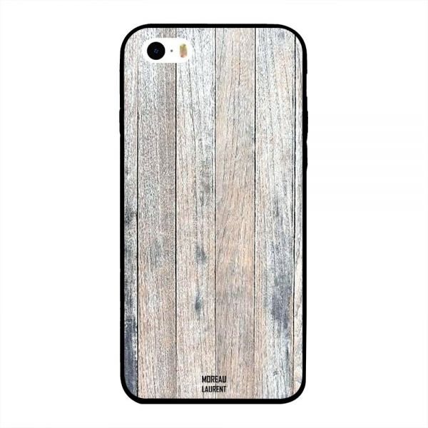 42a2f514f6ca22 Apple iPhone 5S Case Cover Off White Vintage Wooden Pattern ...