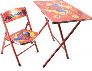 Sensational Folding Table And Chair Set For Kids With Spiderman Andrewgaddart Wooden Chair Designs For Living Room Andrewgaddartcom
