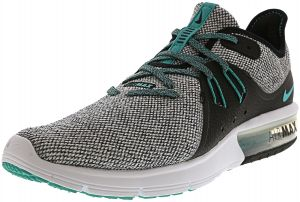 big sale ec258 bd429 Nike Men s Air Max Sequent 3 White   Hyper Jade - Black Ankle-High Running  Shoe 10M