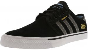 new style d1f13 4193b Adidas Men s Seeley Og Adv Core Black   Dark Solid Grey Footwear White  Ankle-High Leather Skateboarding Shoe - 10M