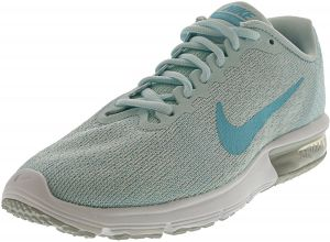 best loved 02c5d ac31b Nike Women s Air Max Sequent 2 Pure Platinum   Polarized Blue Ankle-High Running  Shoe - 8.5M