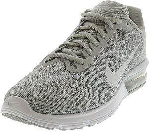 separation shoes 11492 2746d Nike Women s Air Max Sequent 2 Pure Platinum   White - Wolf Grey Ankle-High  Running Shoe 8.5M