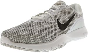18263cd6611 Nike Women s Flex Trainer 7 White   Metallic Silver Ankle-High Fabric  Running Shoe - 7M