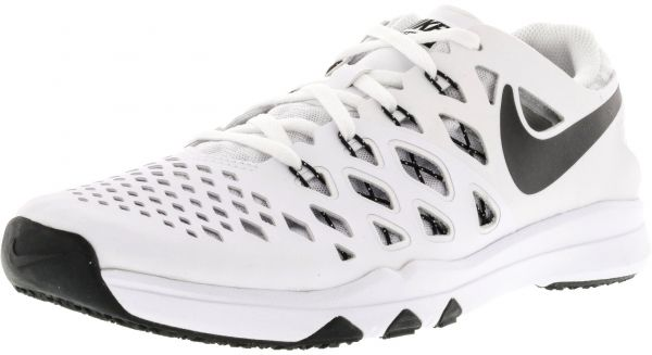 c8790a2765a2 Nike Men s Train Speed 4 White   Black Ankle-High Fabric Training ...