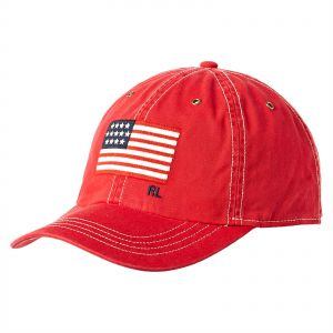 837ce14369e3a Polo Ralph Lauren Chino Twill Iconic Cap for Men - Red