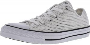 767114d3d01d Converse Women s Chuck Taylor all Star Ox Perforated White   Black ankle-  Fashion Sneaker - 10M