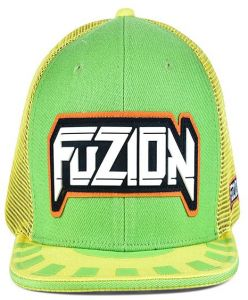 1bba4dca3ca Fuzion Xtreme Snapback hat Green-Yellow For Unisex