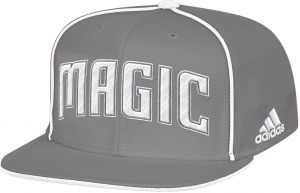 100% authentic b1e03 d94f8 NBA Orlando Magic Men s Fanwear Team Flat Brim Snapback Cap, One Size, Grey