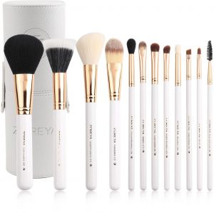86c7c71bbe 12pcs Pro Powder Makeup Brush Set Eye Shadow Eyebrow Blusher Foundation  Cosmetic Make-up Brushes