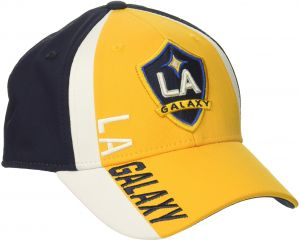 b7275c5349320 adidas MLS Los Angeles Galaxy Adult Men Cut  N Sew Curved Visor Flex