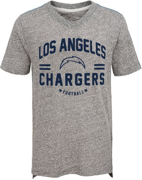 96860f70f NFL San Diego Chargers Youth Boys Heritage Short Sleeve Tri-Blend Tee  Heather Grey