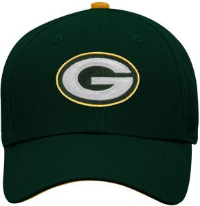 31c4e9387 NFL by Outerstuff NFL Green Bay Packers Youth Boys Basic Structured  Adjustable Hat Hunter Green