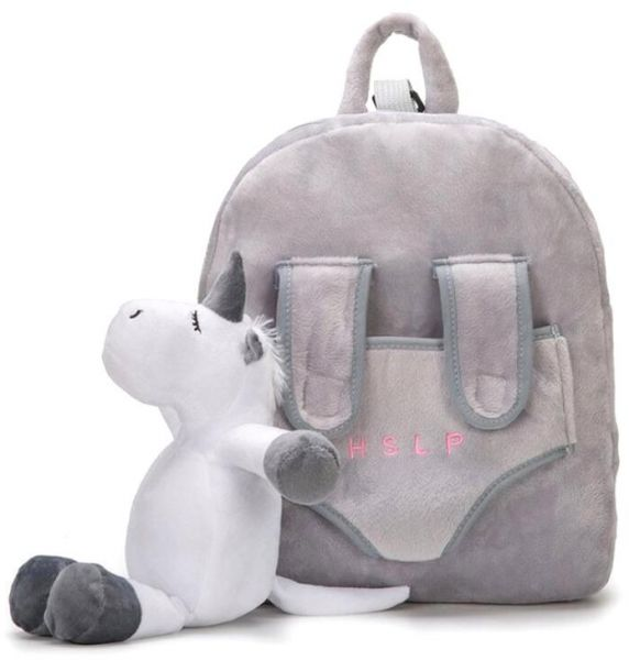 a204f474b6 Kids Toddler Plush Backpack 3D Cartoon Stuffed Animal Toy Early Learning  Kindergarten Preschool Bookbag Nursery Shoulder Bags Snack Travel Bag for  Baby ...