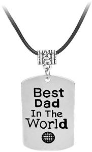Stainless Steel Necklace For Men Fathers Day Keychain Dad Birthday Gifts Jewelry Father Gift
