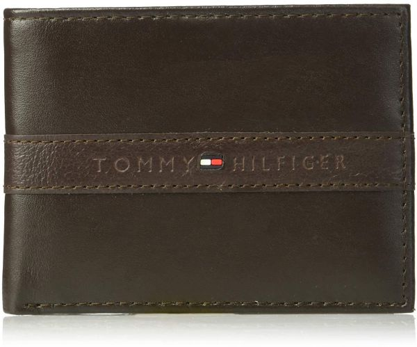 buy good on feet shots of best loved Tommy Hilfiger Men's RFID Blocking Leather Passcase Wallet ...