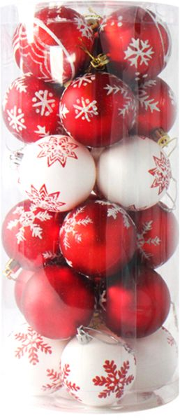 Party Supplies Christmas Balls 24 Pack Painted Balls Shop Window