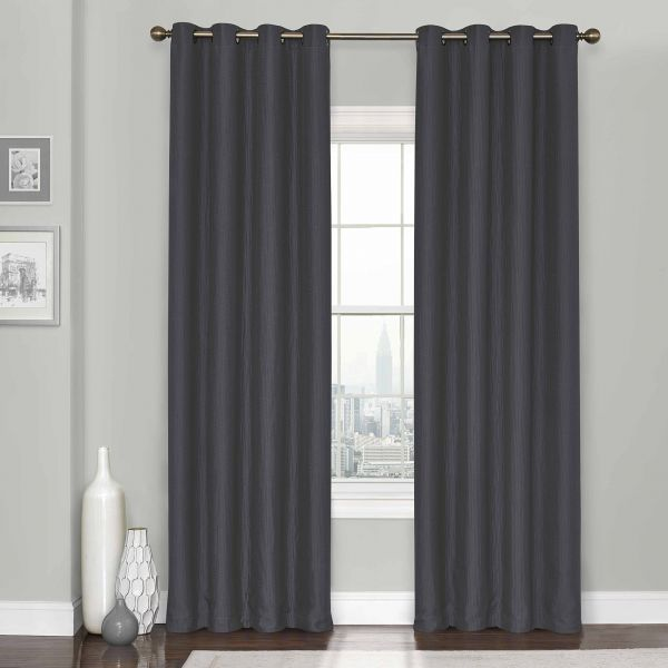 eclipse clara thermaweave blackout window curtain panel, 52x84eclipse clara thermaweave blackout window curtain panel, 52x84, charcoal souq uae