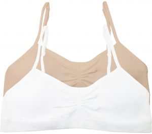 9649a00b3b3 Fruit of the Loom Big Girls  Seamless Shirred Front Bralette