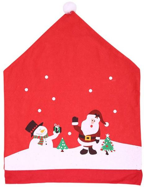 fe6eb2d36c16e Santa Claus Cap Chair Cover Christmas Dinner Table Party Red Hat Chair Back Covers  Xmas Christmas Decorations for Home
