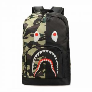 700781603e8a Bape Shark Army Backpack School Bag Fashion Traveling Bags Unisex Teenagers  student Satchel For Girl And Boy