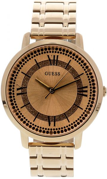 97d92c663e06 Guess Women s U0933L3 Rose-Gold Stainless-Steel Japanese Quartz Dress Watch.  by Guess