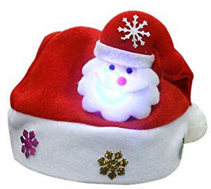 a1166f4daa845 Santa Claus Christmas Hats LED Santa Hat Santa Claus Hat for ...